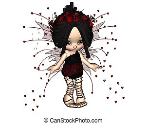 Cute Toon Valentine Fairy - 3 - Cute toon Valentine's Day...