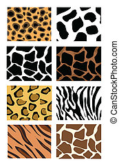animal skin textures - llustration of animal skin textures,...