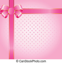 big color bow - beautiful gift with a large pink bow for...