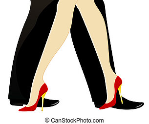 womanish and masculine legs
