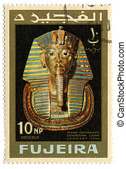 Postage stamp. - FUJEIRA - CIRCA 1966: A stamp printed in...