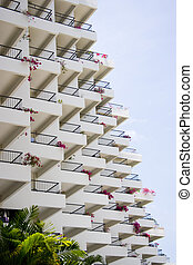 Balconies - The symmetry of many balconies.