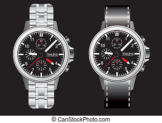 wristlet watch illustraion