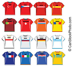 t-shirts with european flags