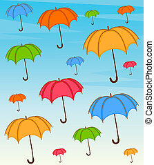 umbrella with wallpaper design