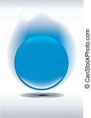 Beautiful glossy ball