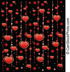 background with beautiful hearts