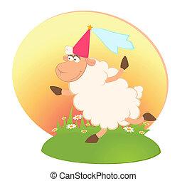 Vector princess of sheep