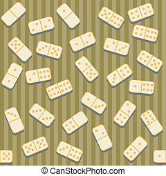 seamless background with dominoes and strips vector