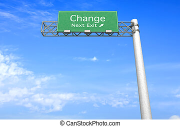 Highway Sign - Change