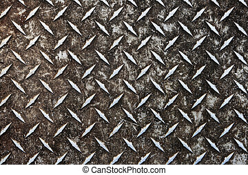 dirty diamond plate - dirty worn aluminum diamond plate...