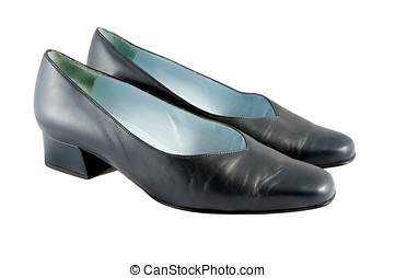 Flat Shoes - Photo of a pair of black flat shoes