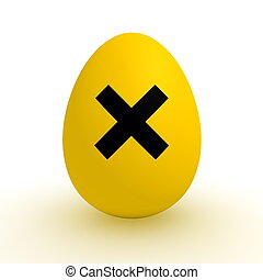 Yellow Egg - Polluted Food - Irritant Sign