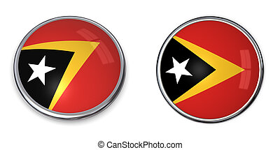 Banner Button East TimorTimor-Leste - button style banner in...