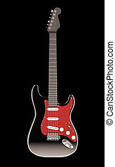 electro guitar - red and black electro guitar
