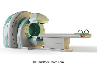 MRI Tomograph - MRI, tomograph isolated on white background