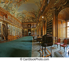 baroque library - theological hall of Strahov library Praha