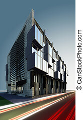 business centre - A 3D illustration of contemporary business...