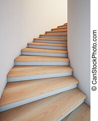 Spiral stair - A 3d illustration of a spiral stair to the...