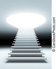 stair to the future - A 3d illustration of a stair to the...
