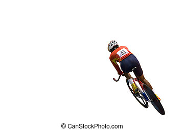 Cyclist - Isolated image of a competitive cyclist