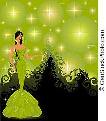 woman in an evening dress