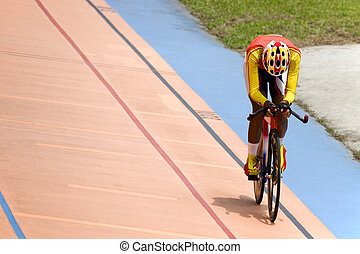 Bicycle Race - Individual cycling time trials at a velodrome...