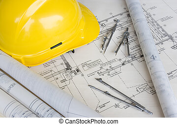 ingeniería, diseño, dibujo