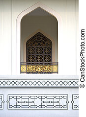 Window at Al-Azim Mosque, Malaysia - Window at Al-Azim...