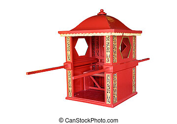 Chinese Sedan Chair - Chinese sedan chair used for...