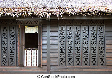 Facade of a Traditional Malay House