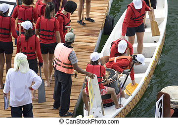 Dragon Boat Race - Participants of a dragon boat race...