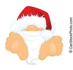 nice santa Claus in a red cap - little nice santa Claus in a...