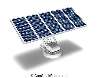 solar energy panels - Solar battery on a white robotic base...