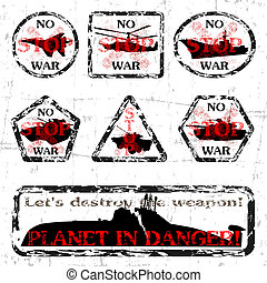 No War - Set of stamps on a theme - No War