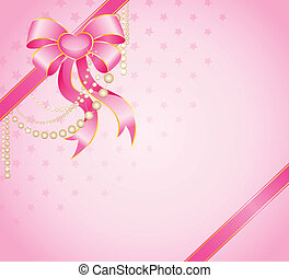gift with a large pink bow