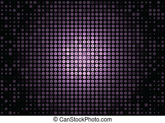 Neon pink vector doted background surface lighted