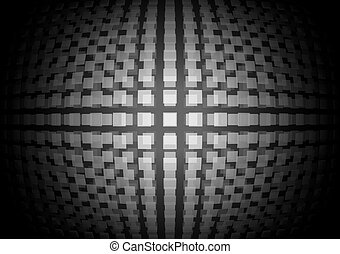 Vector abstract techno squared orb