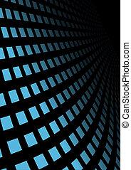 Blue techno vector wall