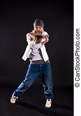 Modern dance Hip-hop - Modern dance, hip hop girl dancer on...