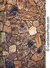 stone wall vertical