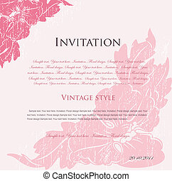 Vector pink floral background for design - Floral background...