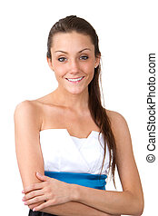 Skinny Woman - Skinny young woman with a pretty smile on her...