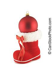 Stiefel, Weihnachten, Santa, flitter