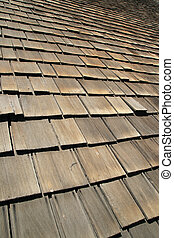old wooden roof shingles