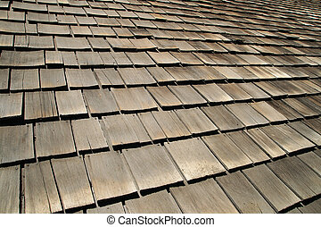 old wood roof shingles