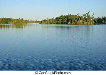 Wilderness Lake - Forest and Shoreline of Calm Wilderness...