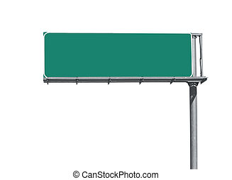 Blank Freeway Sign - Blank overhead freeway directional sign...