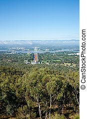 Canberra - Canberra views with iconic gum trees in...