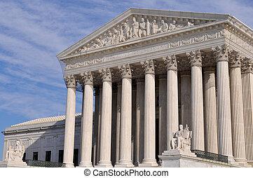 edificio, supremo, tribunal,  Washington, CC, nosotros